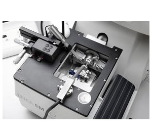 Ultramicrotomy is a method for cutting specimen into extremely thin slices or sections, that can be viewed in a transmission electron microscope.